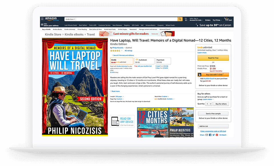 2nd CPU HAVE LAP TOP WILL TRAVEL PHILIP NICOZISIS MEMOIRS OF A DIGITAL NOMAD AMAZON BEST SELLER