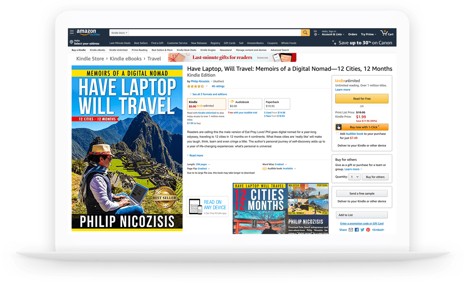 CPU HAVE LAP TOP WILL TRAVEL PHILIP NICOZISIS MEMOIRS OF A DIGITAL NOMAD AMAZON BEST SELLER