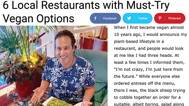 PALM BEACH ILLUSTRATED 6 Local Restaurants with Must-Try Vegan Options Philip Nicozisis aka The Traveling Vegan