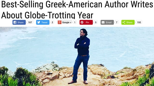 PHIL NICO Best-Selling Greek-American Author Writes About Globe-Trotting Year Philip Nicozisis