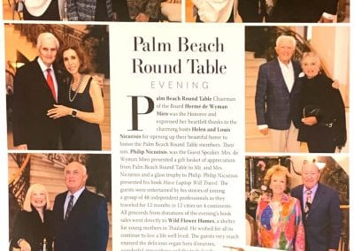 PHIL NICOZISIS PALM BEACH ROUND TABLE 1280