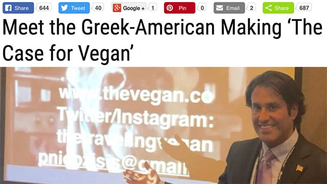 PHILIP NICOZISIS Meet the Greek-American Making 'The Case for Vegan' Greek Reporter USA Article News Updates